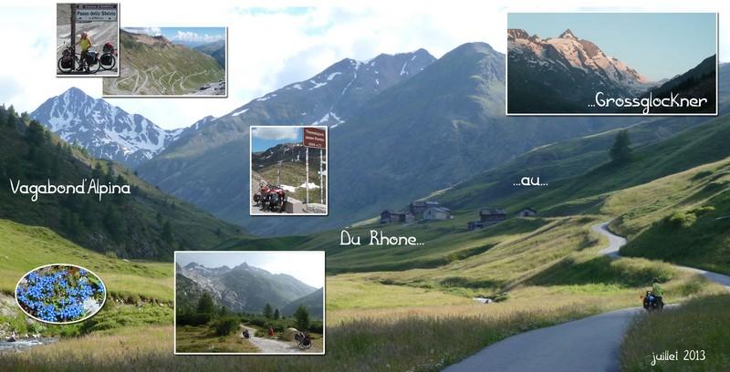 Photos de voyages à vélo dans les Alpes