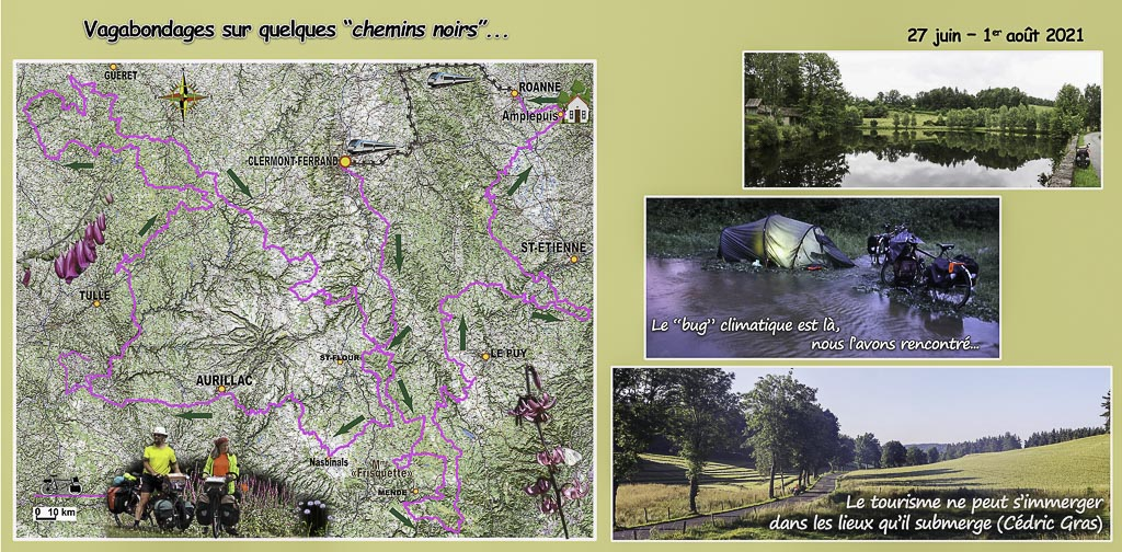Voyage à vélo dans le massif central